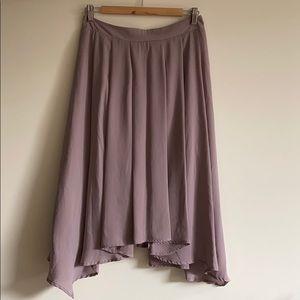 Forever 21 Lilac Midi Skirt